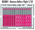 "Eduard 1/32 ""Remove Before Flight"" Tags"