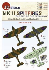 "3D-Kits 1/72 Spitfire Mk.II ""The End of the Beginning"""