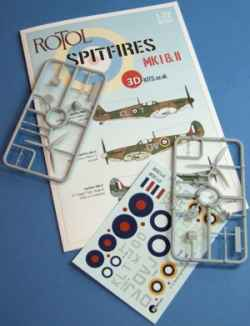 3D-Kits 1/72 Spitfire Mk.II Conversion Kit & Decals