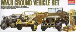 Academy 1/72 WWII Ground Vehicle Set