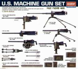 Academy 1/35 US Machine Gun Set