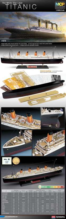 Academy 1/400 The White Star Liner Titanic (MCP)