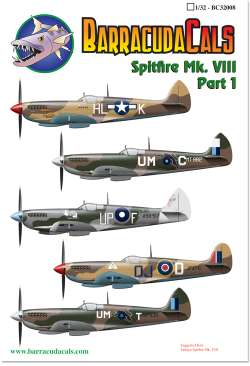 BarracudaCals 1/32 Spitfire Mk.VIII Part 1