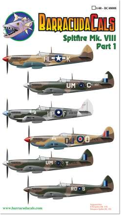 BarracudaCals 1/48 Spitfire Mk.VIII Part 1