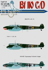EagleCals 1/32 Messerschmitt Bf 110C/D Decals