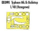 Eduard 1/48 Typhoon Mk.Ib Teardrop Canopy Paint Mask Set
