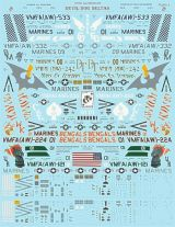 Flying Leathernecks 1/48 F/A-18D Hornet Decals- Devil Dog Deltas