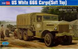 Hobby Boss 1/35 US White 666 Cargo Truck (Soft Top)