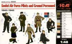 ICM 1/48 Soviet Air Force Pilots and Ground Personnel