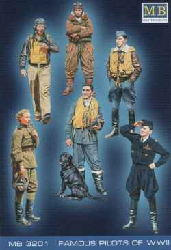 Master Box 1/32 Famous Pilots of WWII Set 1