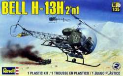 Revell 1/35 Bell H-13H Helicopter 2'n1