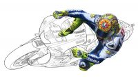 Tamiya 1/12 Valentino Rossi Figure (High-Speed Riding)