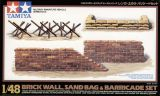 Tamiya 1/48 Brick Wall, Sand Bag & Barricade Set