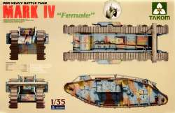 "Takom 1/35 WWI Heavy Battle Tank Mark IV ""Female"""