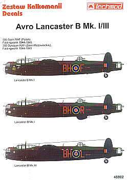 Techmod 1/48 Avro Lancaster B Mk.I/III Decals No.2