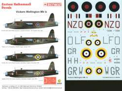 Techmod 1/48 Vickers Wellington Mk.Ic Decals No.1