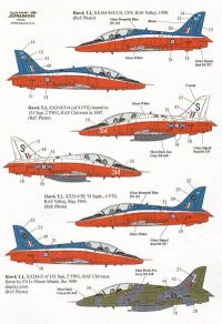 Xtradecal 1/32 BAe Hawk Early Colour Schemes 1997-1993