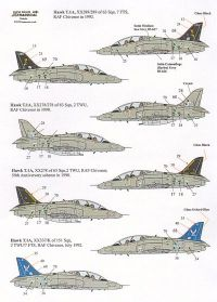 Xtradecal 1/32 BAe Hawk T.1 Grey Camouflage Schemes 1982-1996