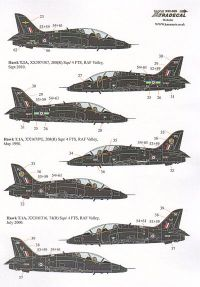 Xtradecal 1/32 BAe Hawk T.1 Overall Black Schemes 1992-2010