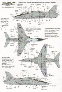 Xtradecal 1/32 BAe Hawk T.1 Comprehensive Maintenance Markings