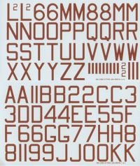 Xtradecal 1/48 RAF Bomber Red Code Letters & Numbers