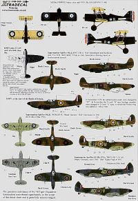 Xtradecal 1/48 RAF 74 (Tiger) Squadron 1916 to 1992