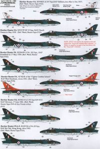 Xtradecal 1/48 Hawker Hunter F.6 and FGR.9