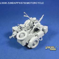 Great Wall Hobby 1/35 WWII German Motorcycle Zundapp KS750 w/Sidecar