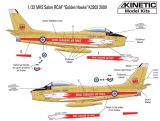 Kinetic 1/32 RCAF Golden Hawks Sabre Mk.5