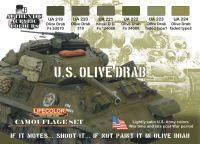 Lifecolor US Olive Drab Paint Set
