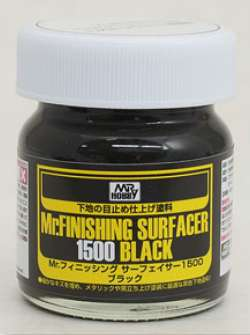 Gunze Sangyo Mr Finishing Surfacer 1500 Black